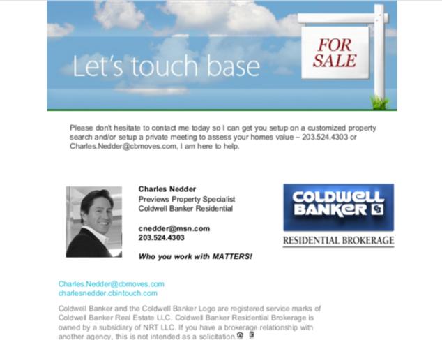 Charles Nedder, Coldwell Banker